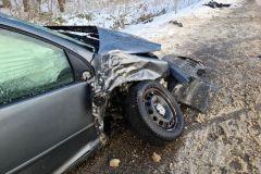 #10 06.02.2021r. droga Żelazno - Słajkowo - wypadek drogowy
