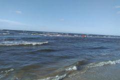 #102 23.08.2020r. Lubiatowo wejście nr 44 - poszukiwania kitesurfera w  morzu bałtyckim