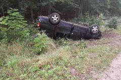 #104 25.08.2020r. droga Choczewo - Żelazno - wypadek drogowy