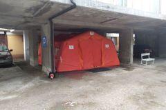 #116 09.10.2020r. Wejherowo ul. dr A. Jagalskiego - zmiana miejsca ustawienia namiotów jako polowa izba przyjęć