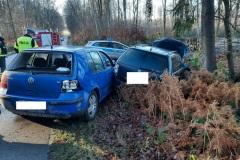 #141 19.12.2020r. droga Żelazno  - Zwartowo - wypadek drogowy