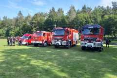 20.07.2019r. Choczewo - wystawa sprzętu strażackiego i zabezpieczenie imprezy Dni Gminy Choczewo