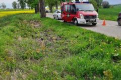 #33 21.05.2021r. droga Słajkowo - Łętowo - wypadek drogowy