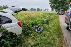 #47 03.07.2021r. droga Łętowo - Słajkowo - wypadek drogowy