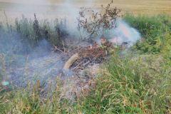 #50 27.06.2019r. Choczewo ul. Piaskowa pożar śmieci przy polu uprawnym