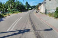 #51 28.06.2019r. droga Ciekocinko - Sasino plama oleju na jezdni