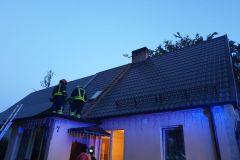 #53 30.06.2019r. Słajkowo 7 pożar sadzy w przewodzie kominowym