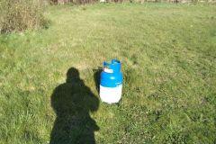 #55 16.04.2020r. Lublewo Lęborskie 14  - rozszczelniona butla z gazem w budynku wielorodzinnym