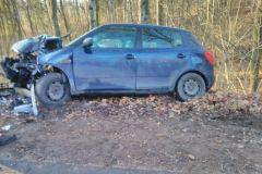 #94 20.12.2019r. droga Zwartowo - Gościęcino wypadek drogowy
