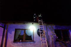 #7 21.01.2021r. Zwartowo 31/1 - pożar sadzy w przewodzie kominowym budynku jednorodzinnego