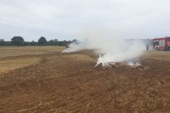 #72 18.08.2019r. Jackowo - pożar 5 balotów słomy na polu