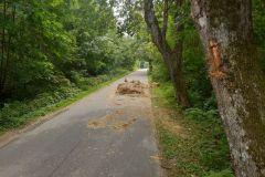 #73 19.08.2019r.  Żelazno - balot słomy blokuje przejazd po drodze