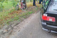 #76 07.09.2019r. Choczewo ul. Pierwszych Osadników potrącenie rowerzysty przez samochód osobowy
