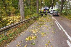 #90 21.10.2021r. Łętowo - drzewo powalone na drogę powiatową