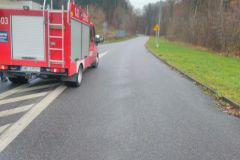 #90 28.11.2019r. droga Choczewo - Żelazno plama substancji ropopochodnej na jezdni
