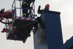#98 31.12.2019r. Zwartowo 8 pożar sadzy w przewodzie kominowym budynku wielorodzinnego